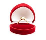 Alianças de casamento em uma caixa de presente Imagem de Stock