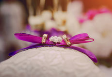 Alianças de casamento HD Imagem de Stock