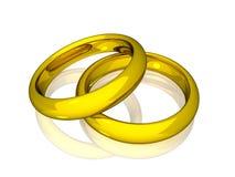 Alianças de casamento - ouro Foto de Stock Royalty Free