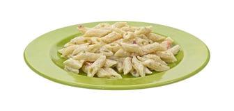 alian макаронные изделия зеленого цвета тарелки Стоковое фото RF