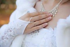 Aliança de casamento Fotografia de Stock