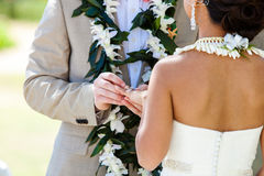 Aliança de casamento para ela Fotografia de Stock