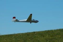 Aliante durante il volo. Fotografie Stock