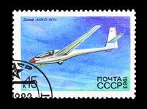 Aliante LAK-12 (1979), storia del serie sovietico degli alianti, circa 198 Fotografia Stock Libera da Diritti
