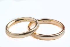 Alianzas de boda Fotos de archivo