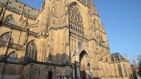 Alias Kathedrale Mariä-Empfängnis-Dom der Neuer der Unbefleckten Empfängnis Dom in Linz Oberösterreich stock video
