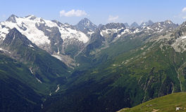 Alibek-Schlucht (Alibek-Tal), kaukasische hauptsächlichkante, Kaukasus, Russland Lizenzfreie Stockbilder