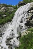 Alibek siklawa. Dombay góry. Północny Caucas Zdjęcia Stock