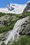 Alibek waterfall. Dombay mountains Royalty Free Stock Photography
