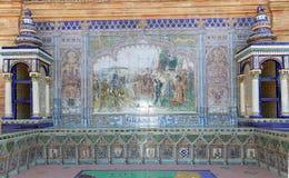 alicante подготовляет керамическую тему sevilla Испании площади пальто de украшения espana известную наземный ориентир старый Стоковые Изображения RF