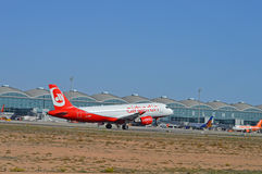 Alicante Airport - Air Berlin Aircraft passenger Jet Plane Stock Image