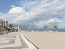 Alicante in anticipation of a severe thunderstorm Royalty Free Stock Images