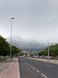 Alicante in anticipation of thunderstorm Stock Image