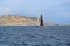 Volvo Ocean Race Alicante 2017 Scallywag. Alicante bay on the first leg of the round the World race Stock Photo