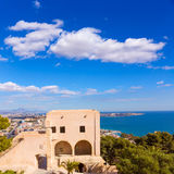 Alicante beach view from Santa Barbara Castle Stock Photography