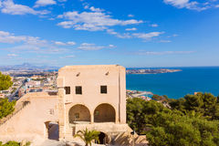 Alicante beach view from Santa Barbara Castle Stock Photo