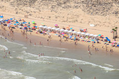 Alicante beaches, aerial views. Spain coast Royalty Free Stock Images