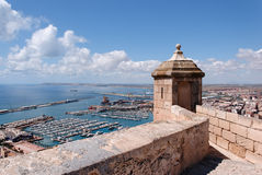 Alicante from the Castle Royalty Free Stock Image