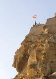 Alicante castle over the muslim face Royalty Free Stock Photos