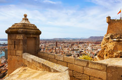 Alicante  from Castle.   Spain. Day general view of Alicante  from Castle.   Spain Stock Photo