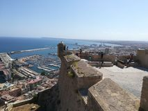 Alicante castle royalty free stock images