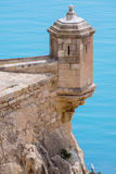 Alicante castle turret Royalty Free Stock Images