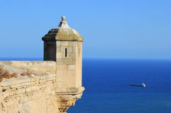 Alicante castle turret landscape Stock Images