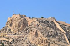 Alicante Castle - Hilltop Defences Fort Fortress Royalty Free Stock Photos