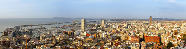 Alicante city on the coast of Costa Blanca, Spain Royalty Free Stock Photography