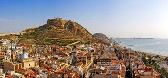 Alicante city on the coast of Costa Blanca, Spain Stock Photos