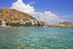 Alicante city on the coast of Costa Blanca, Spain Royalty Free Stock Photo