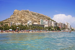 Alicante city on the coast of Costa Blanca, Spain Royalty Free Stock Photos