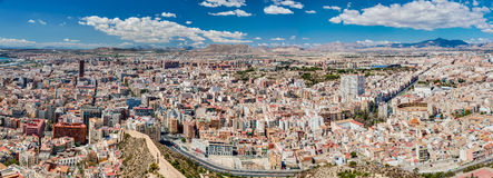 Alicante City Panorama Royalty Free Stock Photo