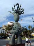 Alicante the city in the Valensiysky Autonomous Region, the capital of the Province of Alicante. The sculpture of the Predictor on Stock Photography