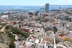 Alicante - the city in the Valensiysky Autonomous Region Stock Photos