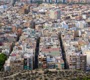 Alicante Cityscape Arkivbilder