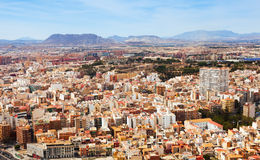 Alicante cityscape from Castle Royalty Free Stock Image