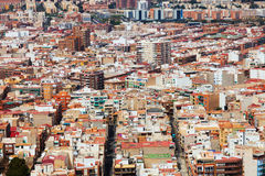 Alicante cityscape from Castle.   Spain Stock Images