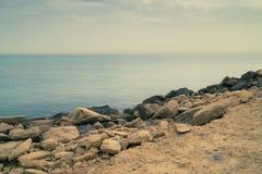 Alicante coast rock light Stock Photos