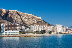 Alicante coastline and buildings Stock Images