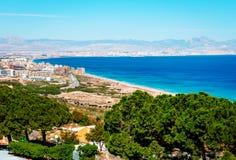 Alicante coastline. Costa Blanca. Spain Royalty Free Stock Image