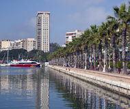 Alicante - Costa Blanca - Spain. The palm tree lined waterfront in the city of Alicante in Spain Stock Photos