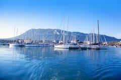 Alicante Denia marina on blue mediterranean Royalty Free Stock Image