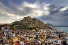 Alicante down. Dawn in Alicante city - Spain Royalty Free Stock Image