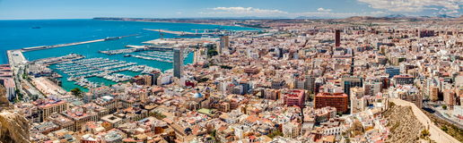 Alicante Downtown Panorama Stock Photography