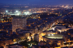 Alicante at dusk. Catalonia, Spain Royalty Free Stock Image