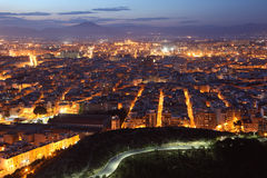 Alicante at dusk. Catalonia, Spain Royalty Free Stock Photos