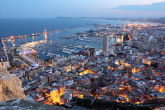 Alicante at dusk. Spain Stock Photo