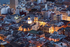 Alicante at dusk. Spain Stock Image