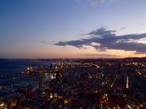 Alicante entro Night Immagini Stock
